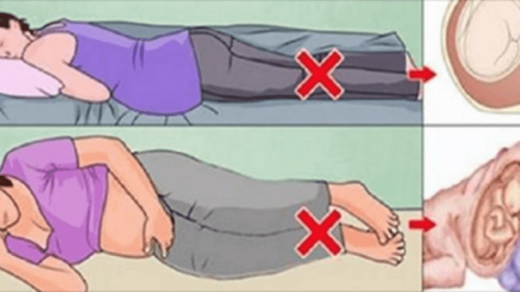 طريقة نوم الحامل بتوأم